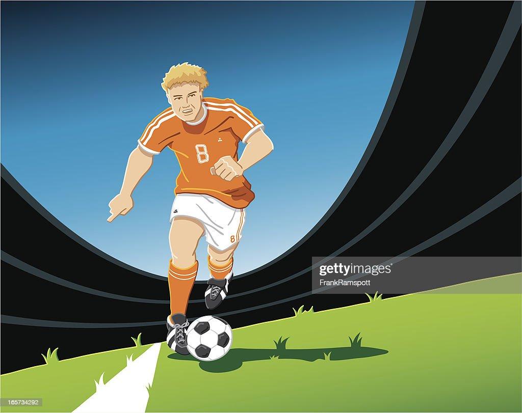 Playmaker Soccer Player Orange