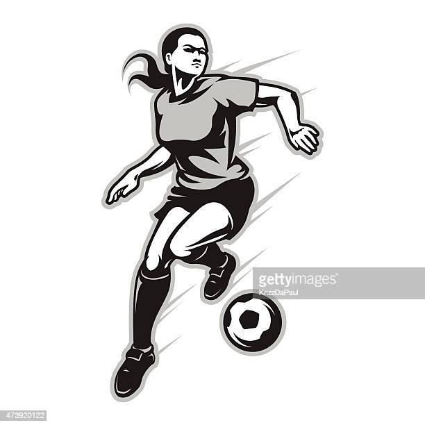playmaker - women's soccer stock illustrations