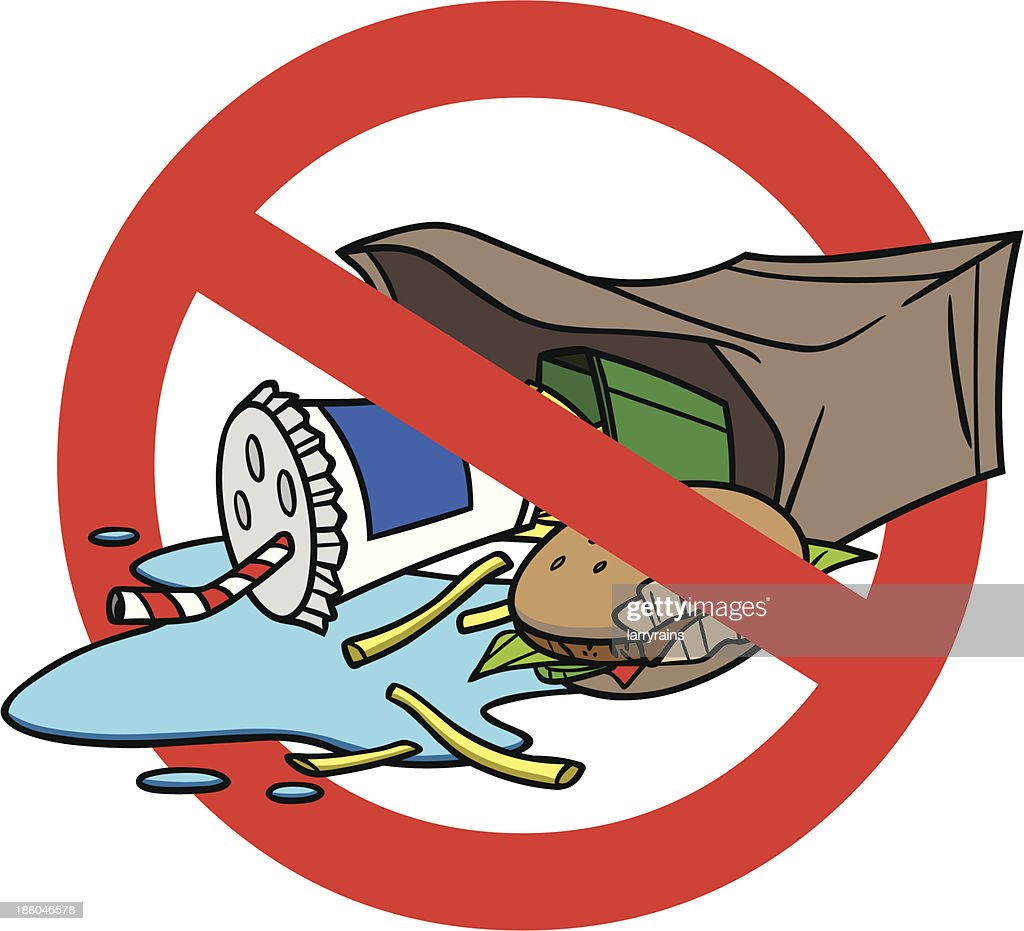 Please Don't Litter : stock illustration