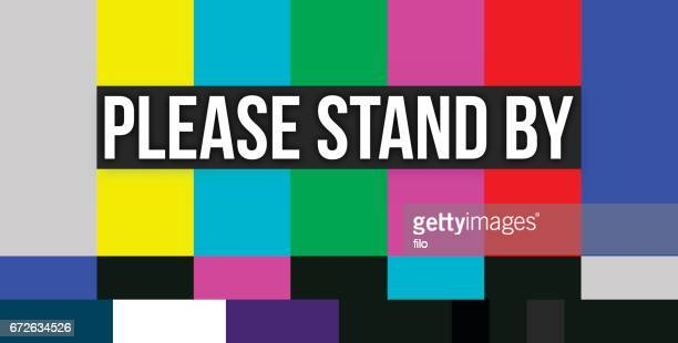 please stand by color error screen - television industry stock illustrations