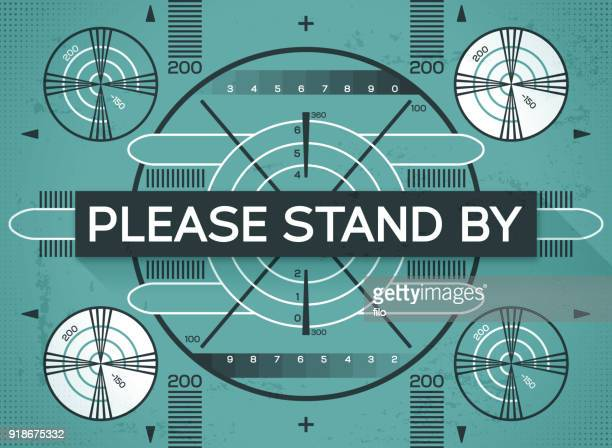 please stand by test screen - television industry stock illustrations