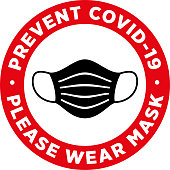 Please Wear Medical Mask Signage or Sticker.
