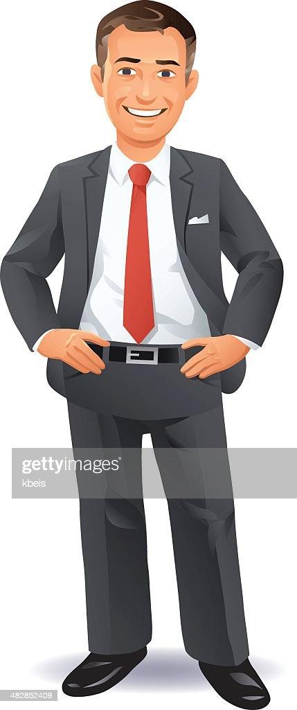Pleased Businessman : stock illustration