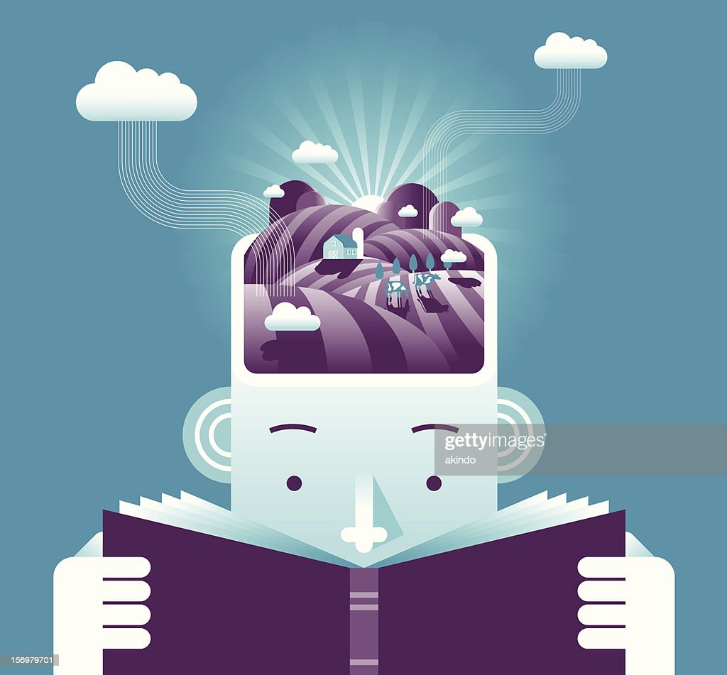 Plowing Brain : stock illustration