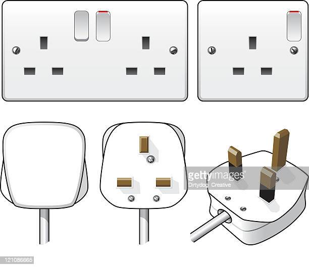plug and socket illustration - electric plug stock illustrations