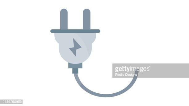 plug icon - electric plug stock illustrations