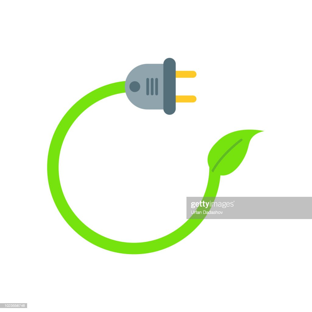 Plug icon vector sign and symbol isolated on white background, Plug logo concept