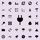 plug socket icon. Detailed set of minimalistic icons. Premium graphic design. One of the collection icons for websites, web design, mobile app