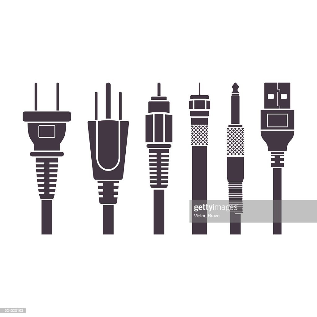 Plugs vector illustration set collection