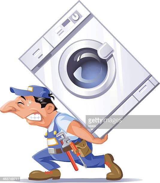 Idraulico portare una lavatrice