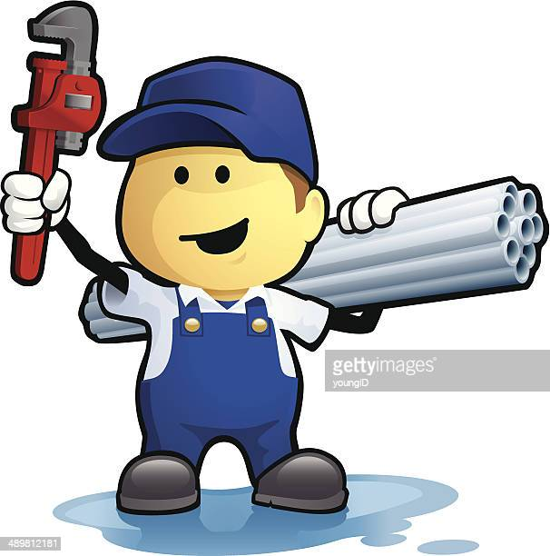 plumber - puddle stock illustrations, clip art, cartoons, & icons