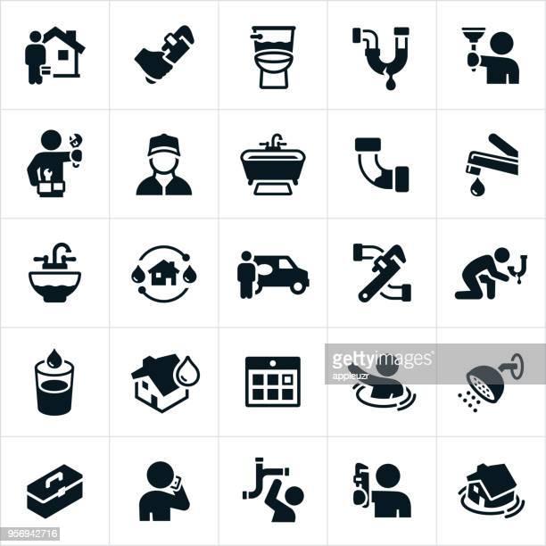 ilustrações, clipart, desenhos animados e ícones de ícones de encanamento  - estereótipo de classe trabalhadora