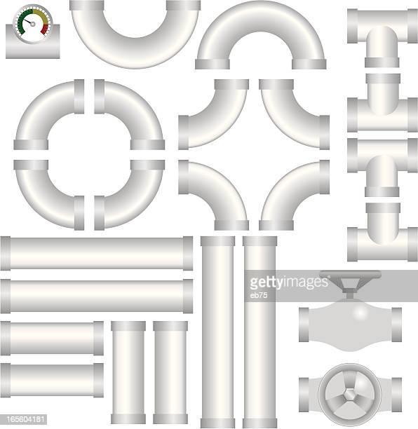 plumbing kit - water valve stock illustrations, clip art, cartoons, & icons