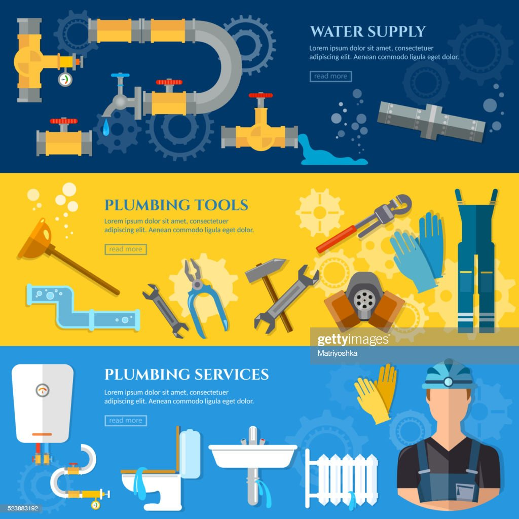 Plumbing repair service banner