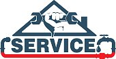 Plumbing repairs and maintenance vector