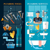 Plumbing service banner