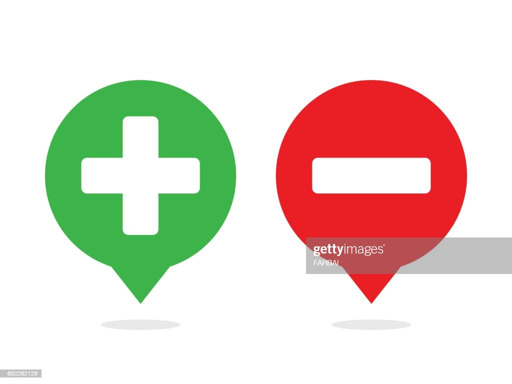 Plus and minus in bubble balloon icon vector