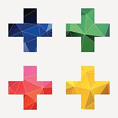 plus icon Abstract Triangle
