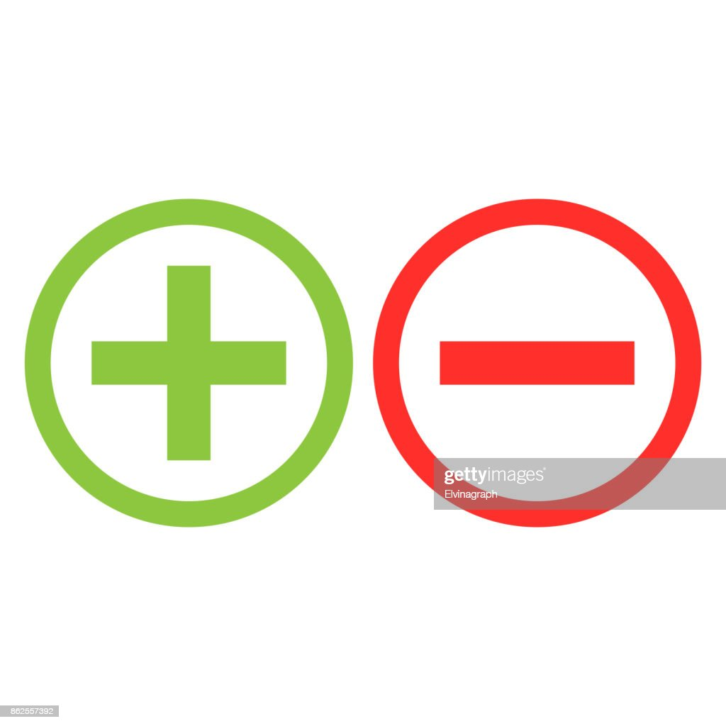 plus minus icon isolated vector