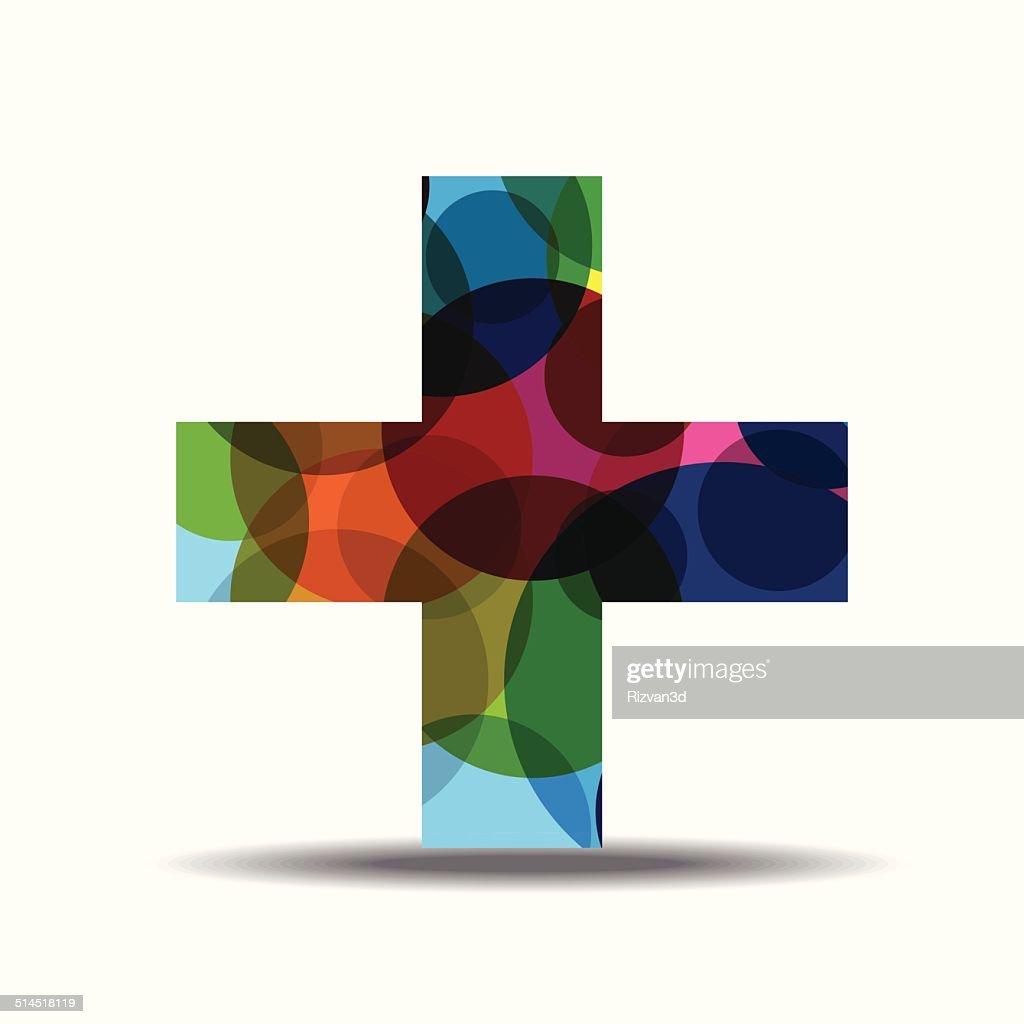 Plus Sign Colorful Vector Icon Design