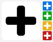 Plus Sign Icon Flat Graphic Design