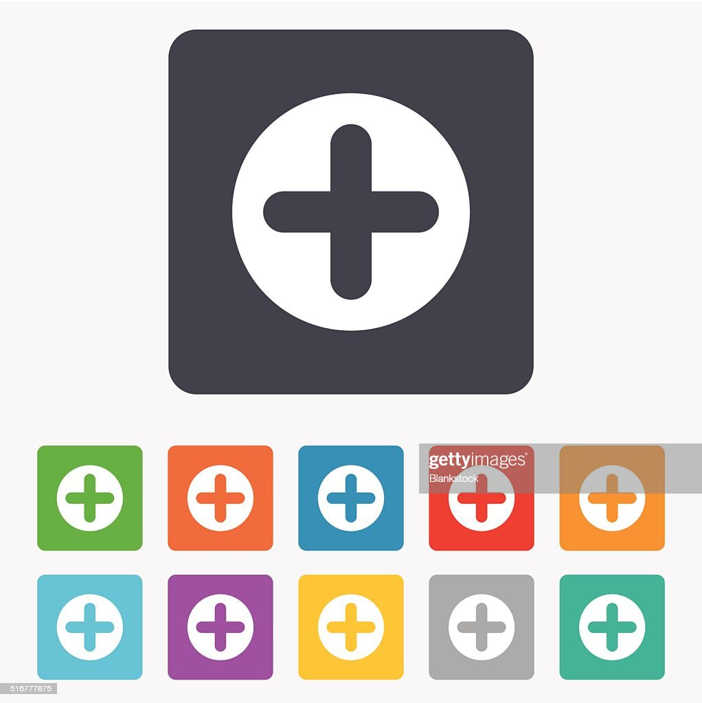 Plus Sign Icon Positive Symbol Vector Art Getty Images