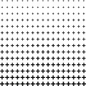 Plus Sign pattern design background in Black and white