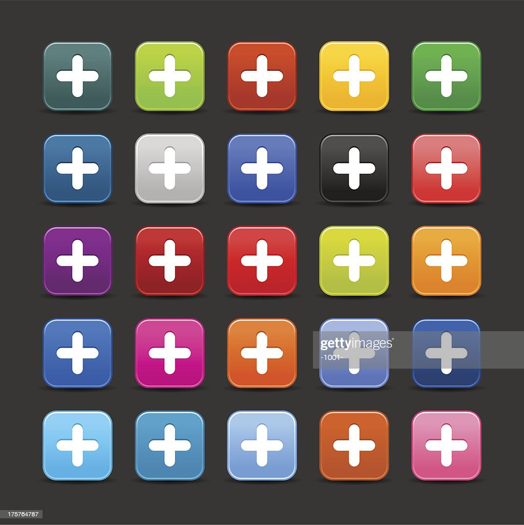 Plus sign rounded square icon web internet button