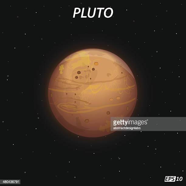 pluto planet - pluto dwarf planet stock illustrations