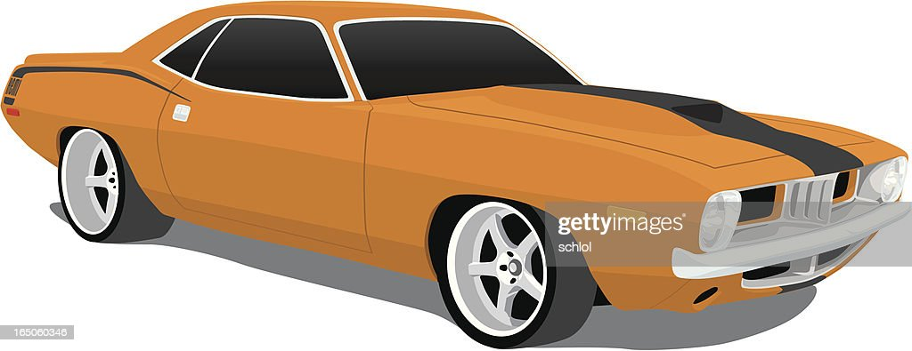 Plymouth Barracuda : stock illustration