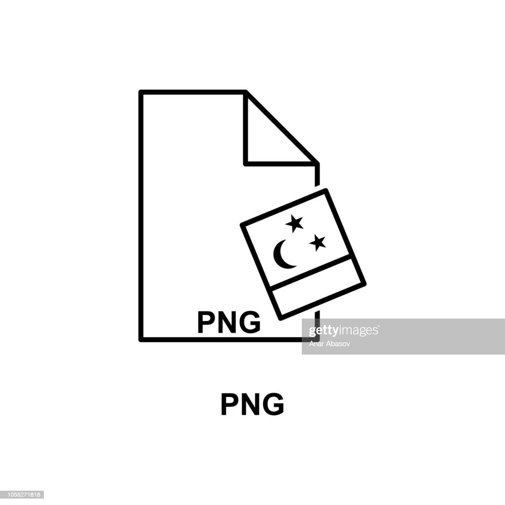 png file icon. Element of simple web icon with name for mobile concept and web apps. Thin line png file icon can be used for web and mobile