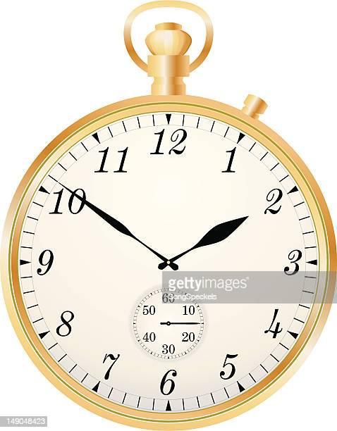 ilustraciones, imágenes clip art, dibujos animados e iconos de stock de reloj de bolsillo - reloj de bolsillo