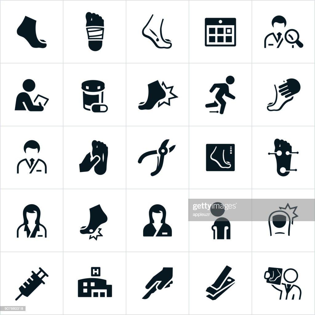 Iconos de podología : Ilustración de stock