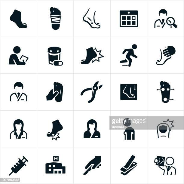 podiatry icons - foot stock illustrations, clip art, cartoons, & icons