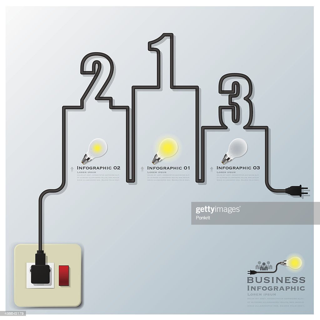 Podium Electric Wire Line Business Infographic Vector Art | Getty Images