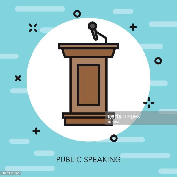 podium thin line election icon - presidential election stock illustrations