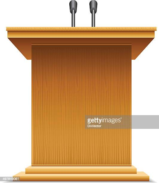 podium - press conference stock illustrations, clip art, cartoons, & icons