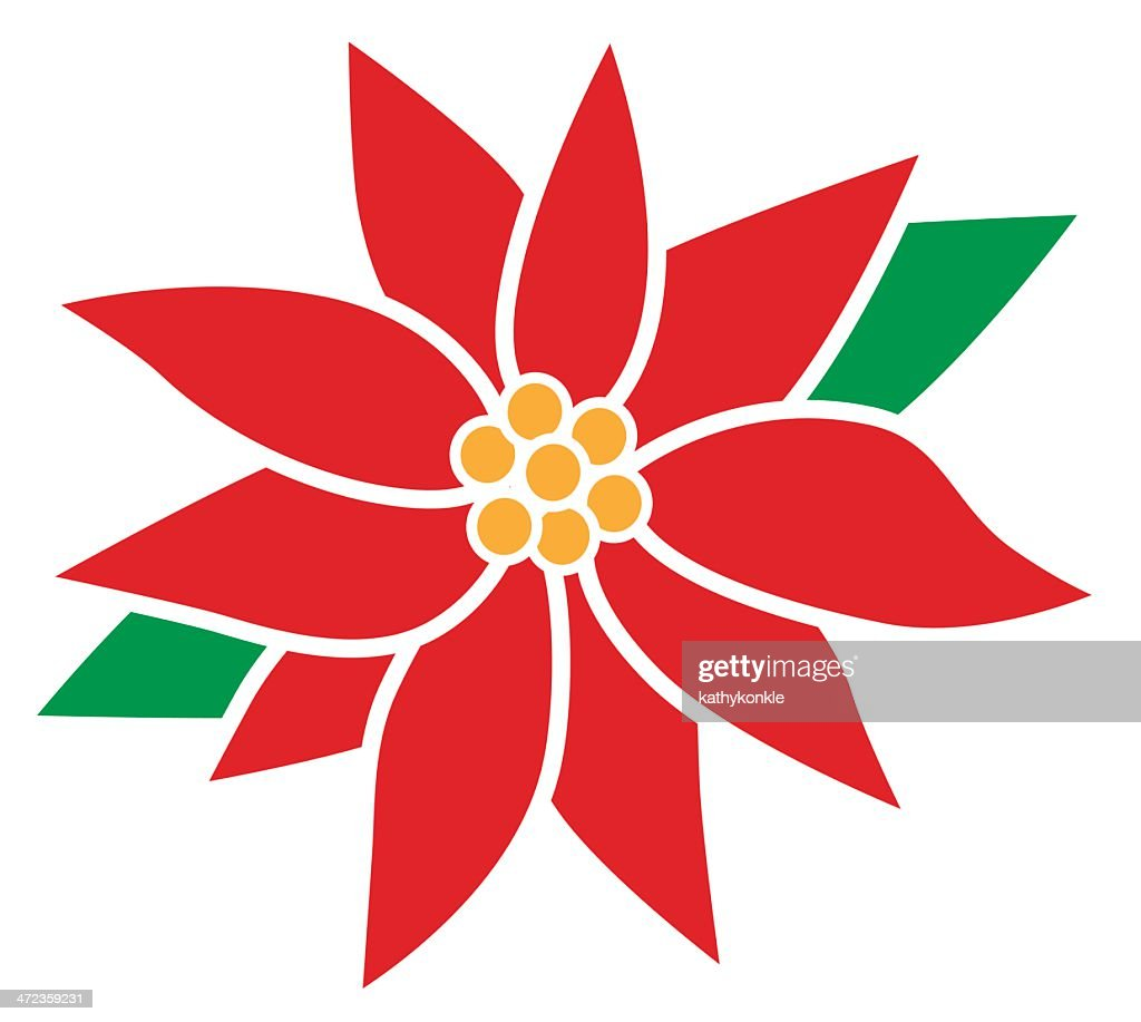 Poinsettia Flower High Res Vector Graphic Getty Images