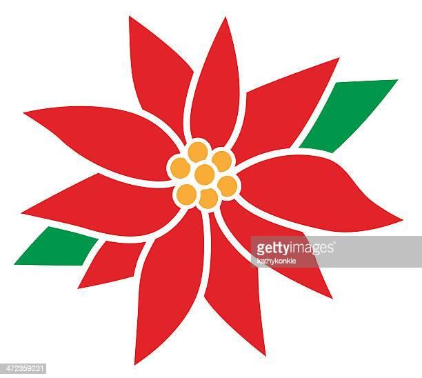 ilustraciones, imágenes clip art, dibujos animados e iconos de stock de flor de nochebuena flor - flor de pascua