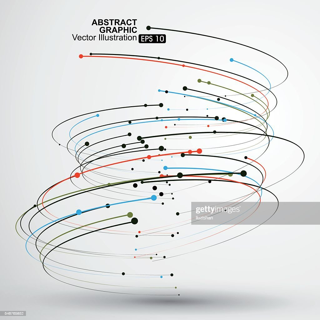 Point and curve consisting of abstract graphic,Vector Illustration.