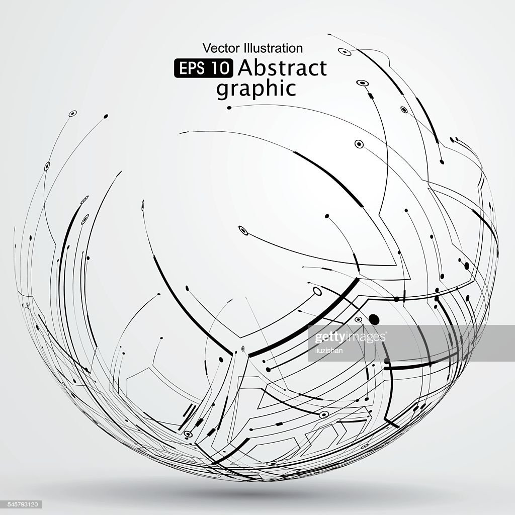 Point and line constructed the sphere wireframe.