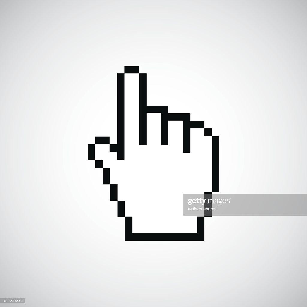 pointer pixel cursor icon