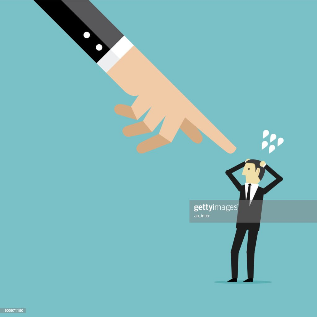 Pointing a businessman : stock illustration