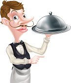 Pointing Cloche Waiter