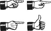 Pointing Finger And Thumbs Up Sign