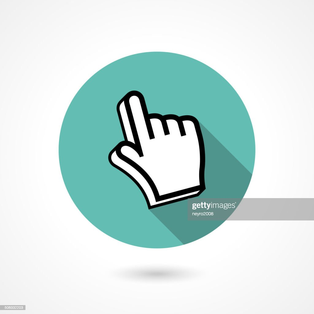 pointing finger icon