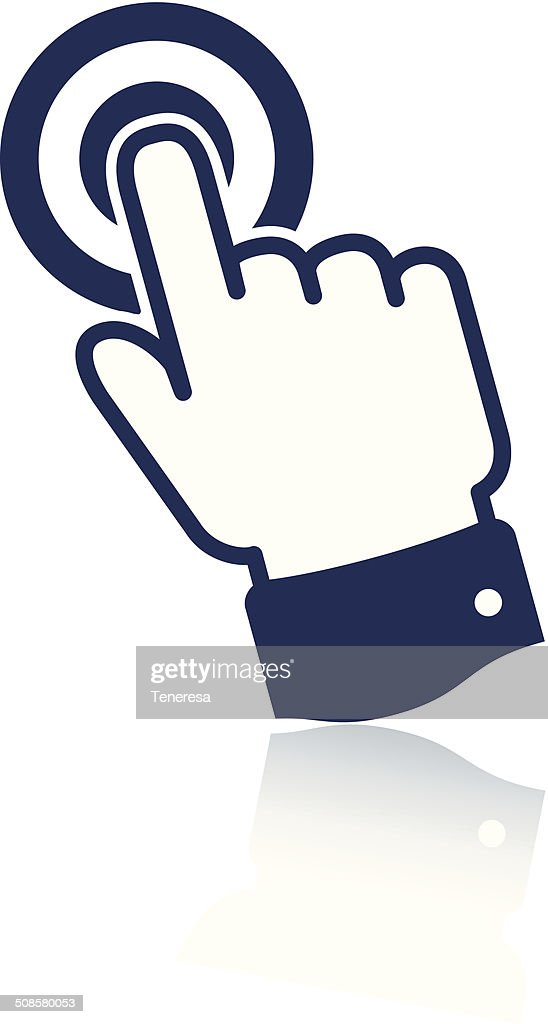 Pointing finger icon : Vector Art