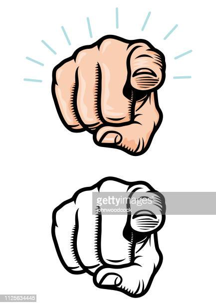 pointing finger illustration - pointing stock illustrations
