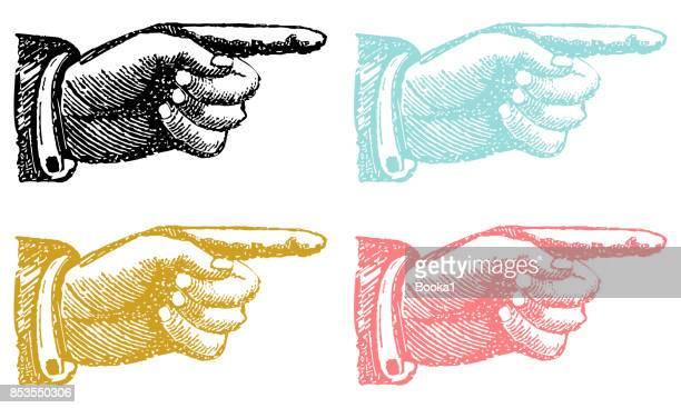 zeigenden hand sammlung - zeigen stock-grafiken, -clipart, -cartoons und -symbole