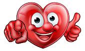 Pointing Heart Cartoon Character